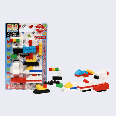 Iwako - Block Vehicle Eraser Set