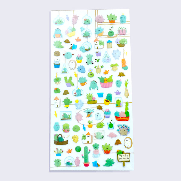 Mind Wave - Cute Cactus and Succulent Sticker Sheet