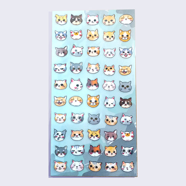 Nekoni - Cat Faces Sticker Sheet
