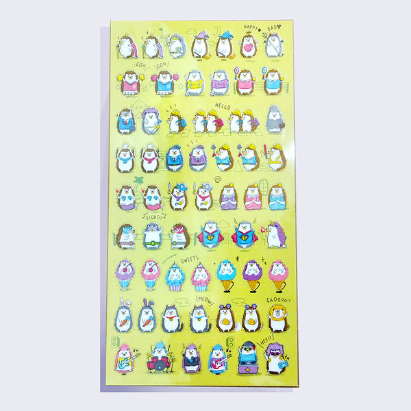 Mind Wave - Dressed Up Penguins Sticker Sheet