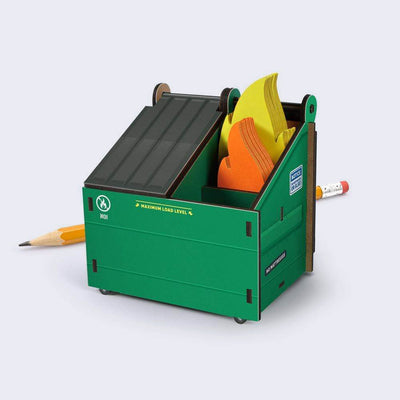 Dumpster Desk - Pencil Holder with Notecards