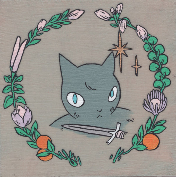 Deth P Sun - Wreath - Cat with Dagger - #58