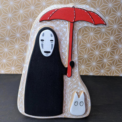 "Totoro Show 6 - Federico Tobon - ""No Face Waiting in the Rain"""