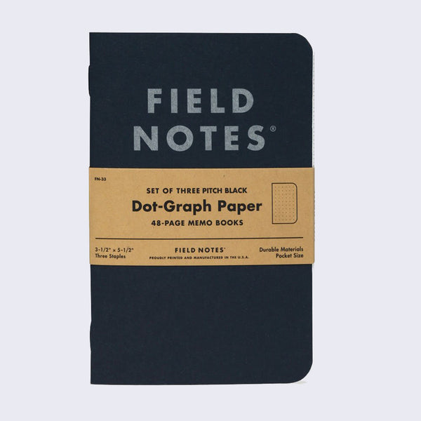 Field Notes - Set of Three Memo Book (Black)