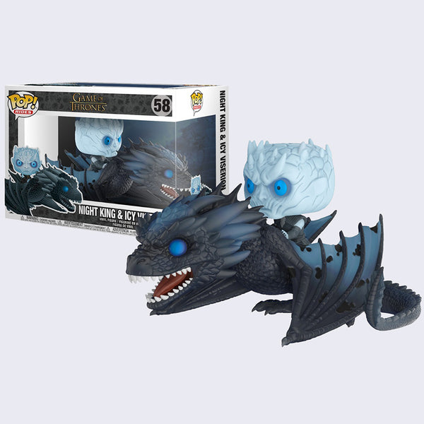 Funko - Game of Thrones Pop! Rides Vinyl Figure (Night King and Icy Viserion)