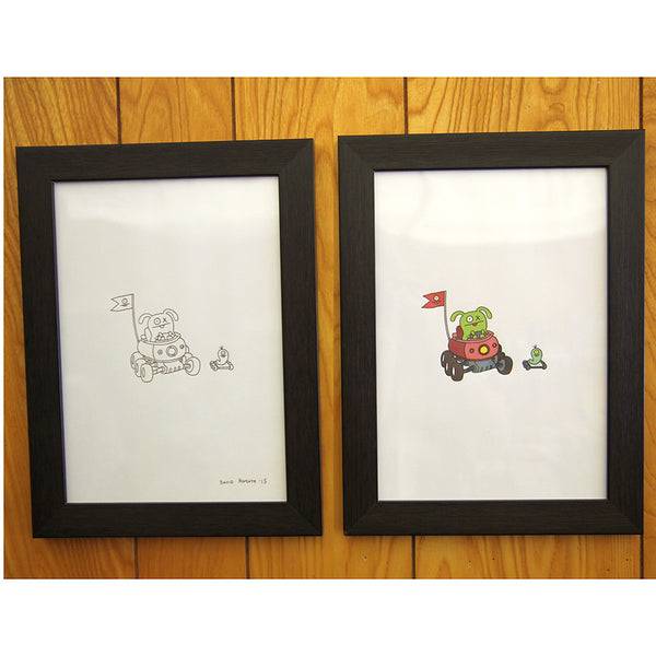 David Horvath - Untitled Original Drawing & Print - # GR1 - 7