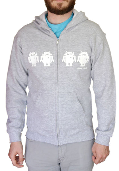 Giant Robot - Robot Army Hoody (Gray/White)