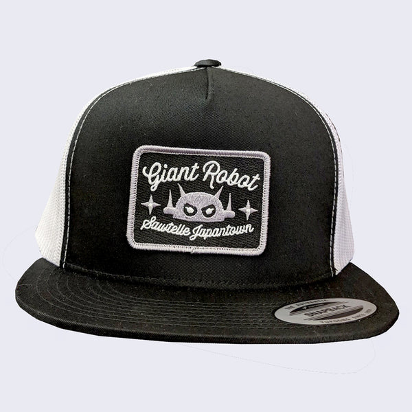 Giant Robot - Rectangle Patch Hat (Black, Mesh w/ Grey)