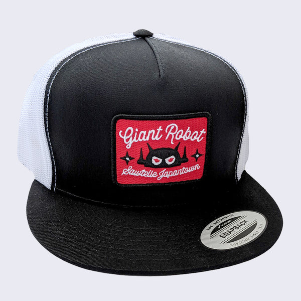 Giant Robot - Rectangle Patch Hat (Black Mesh w/ Red)