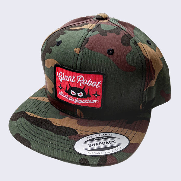 Giant Robot - Rectangle Patch Hat (Camo w/ Red)