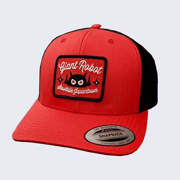 Giant Robot - Rectangle Patch Hat (Red and Black Mesh)