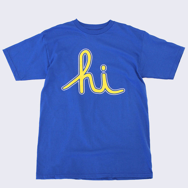 In4mation - Extraordinary League Hi T-shirt (Numbers: Blue & Yellow)