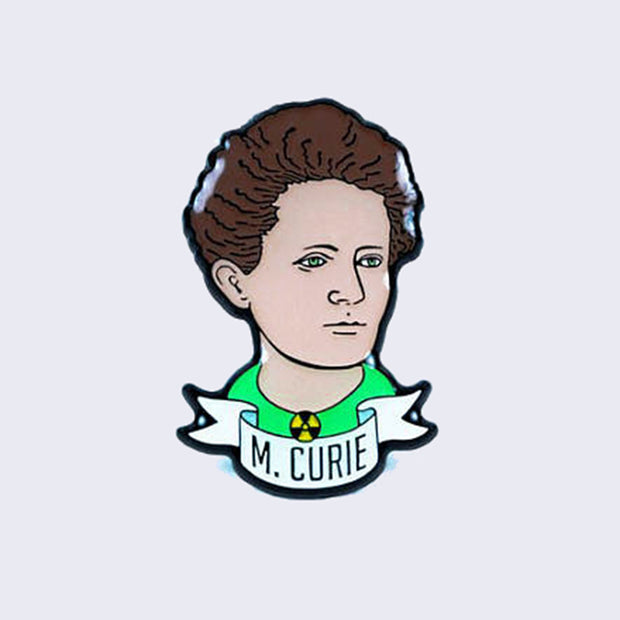 Take A Penny Co. - Glow in the Dark Madame Marie Curie Enamel Pin