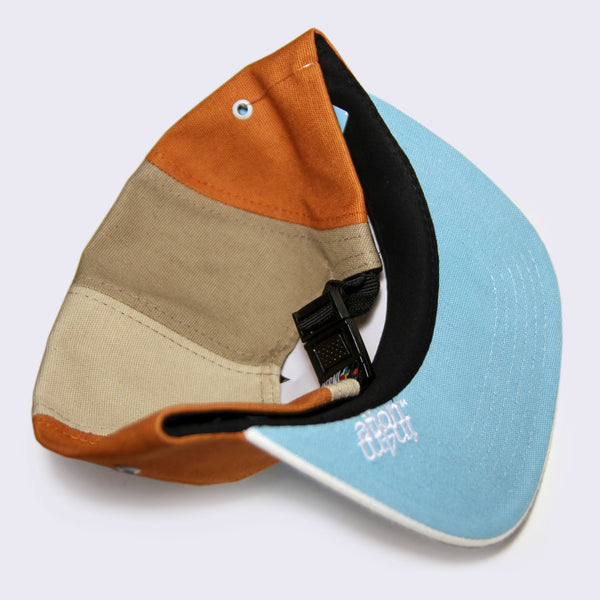 In4mation - Original Hawaii Garment Co. 5-Panel Hat (Off-White /Brown / Turquoise)