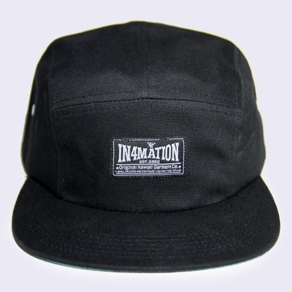 In4mation - Original Hawaii Garment Co. 5-Panel Hat (Black)