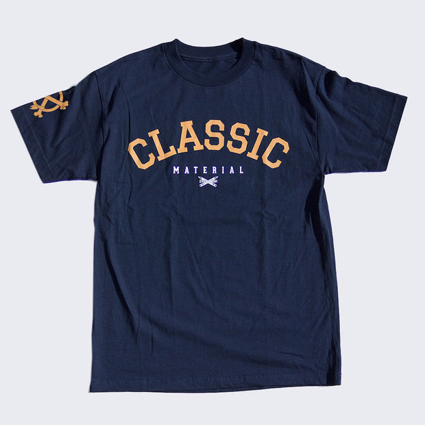 In4mation - Classic Material T-shirt (Navy / Gold)