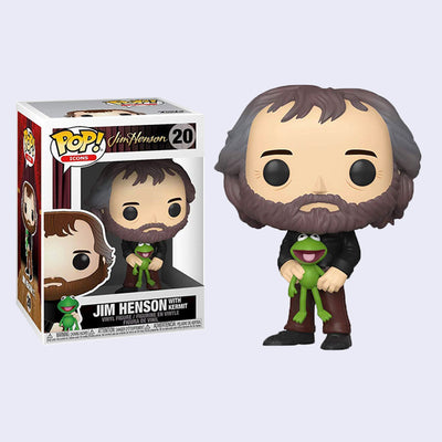 Funko - Jim Henson with Kermit Vinyl Pop! Figure