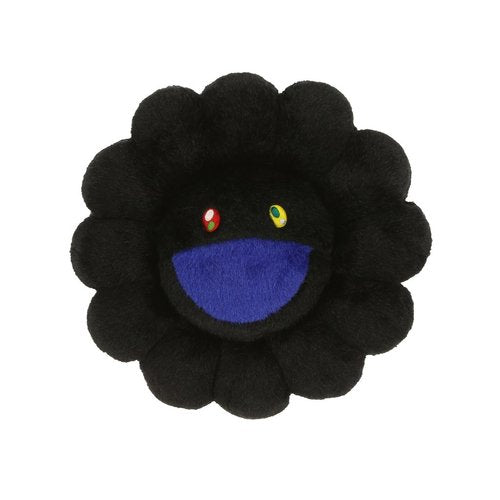 Takashi Murakami - Black (and blue) Flower Cushion (12 inches)