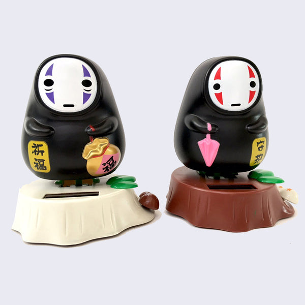 No Face Solar-Powered Figure (Assorted Color Ways)