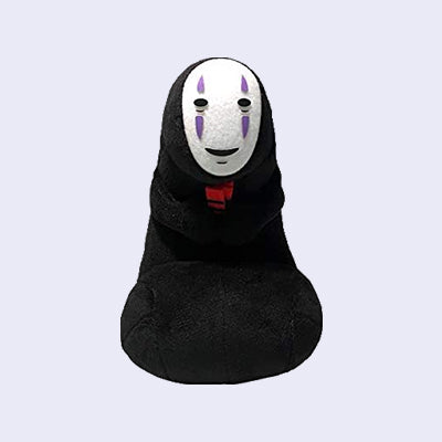 "Spirited Away No Face Kaonashi with Red Bath Tokens 7"" Plush"