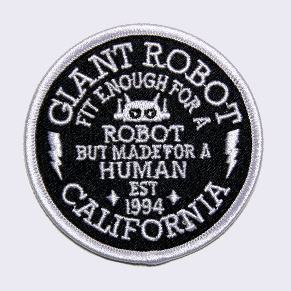 Giant Robot - Big Boss Robot Motto Embroidered Patch
