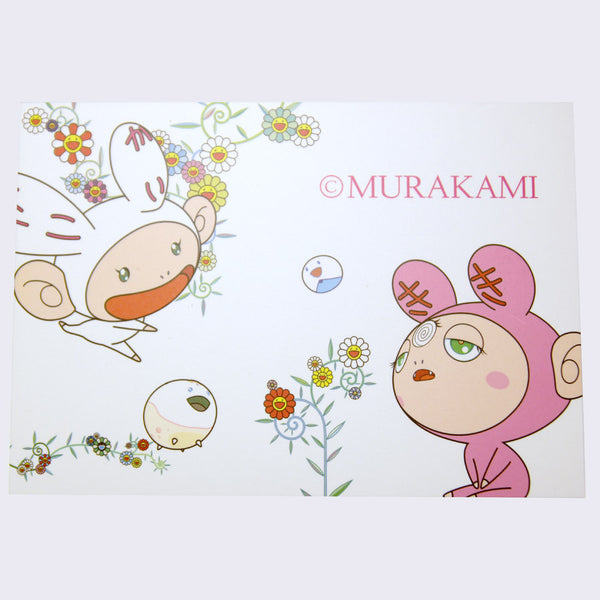 Takashi Murakami - Big Kaikai and Kiki Postcard