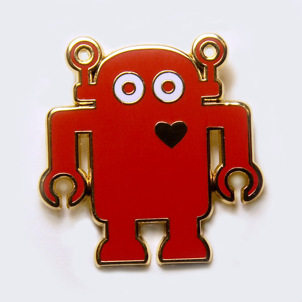 Giant Robot - Big Boss Robot Enamel Pin (Red/Gold)