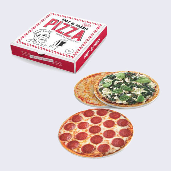 Hot and Fresh Pizza Coasters