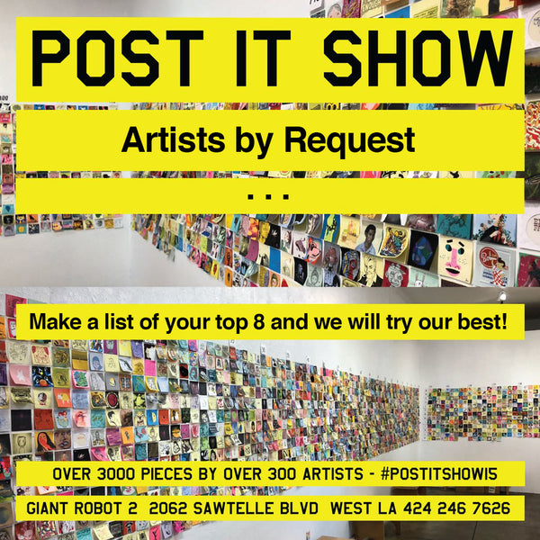 Post-It Note - Artist By Request (some artists unavailable) Please READ description fully!
