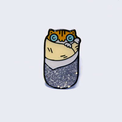 Take A Penny Co. - Weirdos Edition: Purrito Enamel Pin (Glow-in-the-Dark)