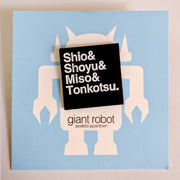 Giant Robot - Ramen List Enamel Pin