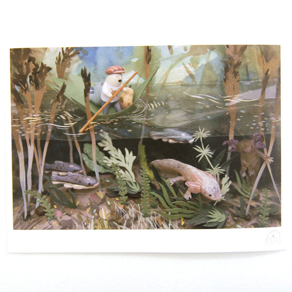 Sean Chao - Swimming Salamanders Print
