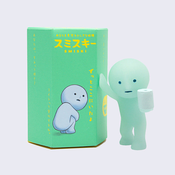 Smiski Mini Figure (Toilet Series: Glow-in-the-Dark)