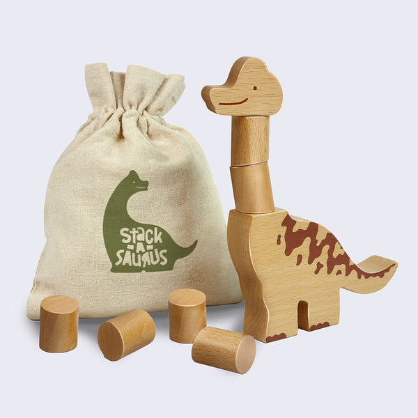 Stack-A-Saurus Wooden Stacking Game