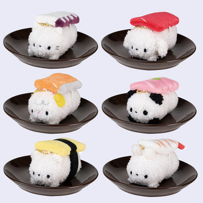 Sushi Animal Plush Keychain