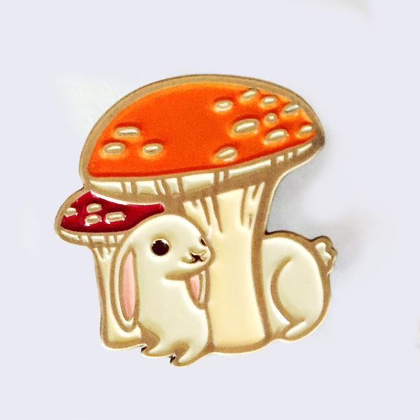 Boygirlparty (Susie Ghahremani) - Mushroom Enamel Pin (What Will Grow? Exhibition Exclusive)