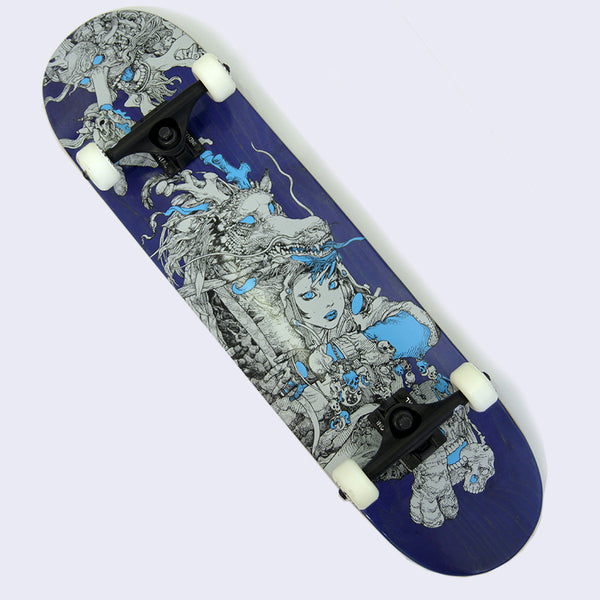 Katsuya Terada - Manga Girls Skate Deck (Completed with Hand Drawn Wheel) *Signed*