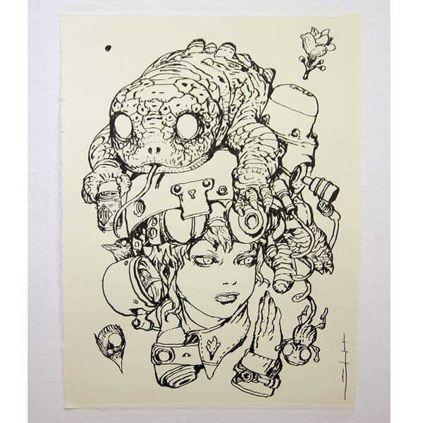 Katsuya Terada - Untitled Live Drawing - #1