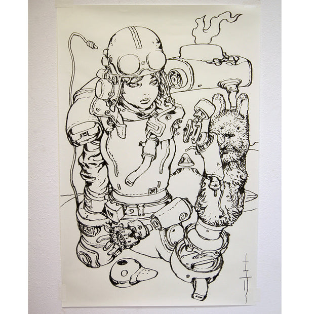 Katsuya Terada - Untitled Live Drawing - #2