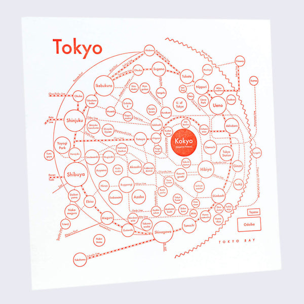 Archie's Press - Circle City Map Letterpress Print Large (Tokyo)