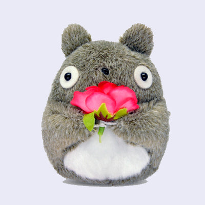"Totoro 4"" Plush (with Flower)"