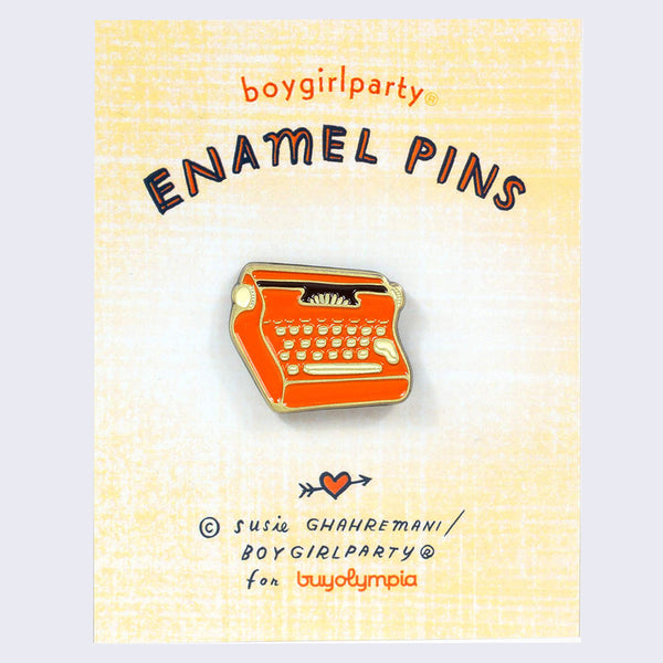 Boygirlparty (Susie Ghahremani) - Typewriter Pin