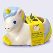 Unicorn Green -  Planter with Seeds and Peat (Wild Strawberry or Basil)