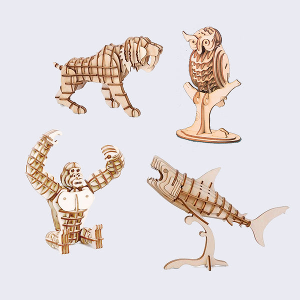 3D Wooden Puzzle - Assorted Animals