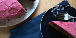 Chocolate Cake with Beet Buttercream Frosting
