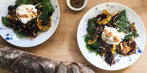 Roasted Radicchio and Squash Salad with Burrata