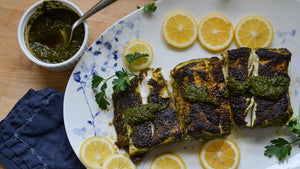 Broiled Halibut with Chermoula