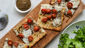 Cherry Tomato Flatbread Pizza with Zahtar