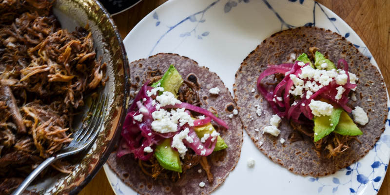 Slow Cooker Cochinita Pibil Tacos