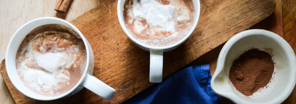Coconut Hot Cocoa with Coconut Whipped Cream